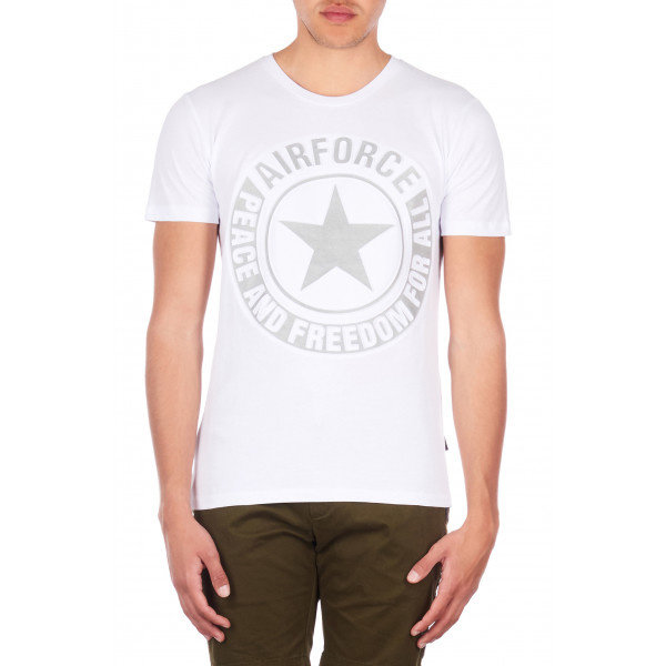 Airforce Tee Emboss Reflection White 100