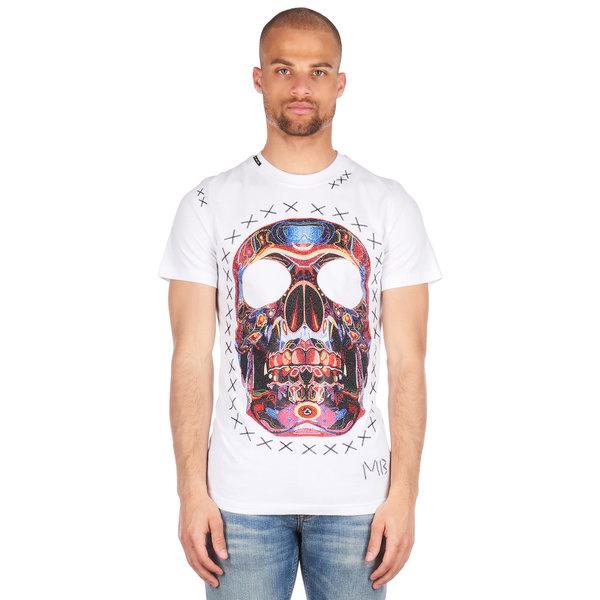 My Brand Rainbow Skull Stitched t-shirt White