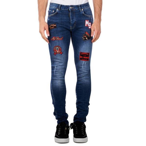 My Brand Traveler Badges Washed Jeans Denim Blue