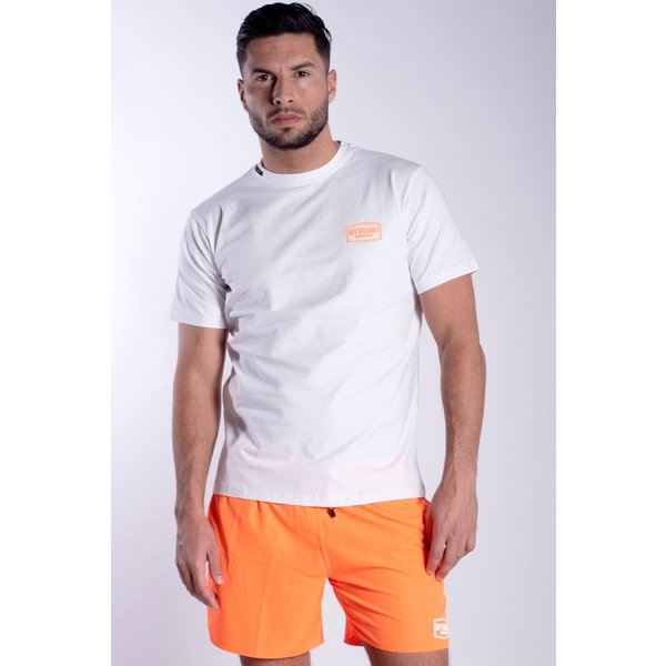 My Brand MB White Neon Orange T-Shirt