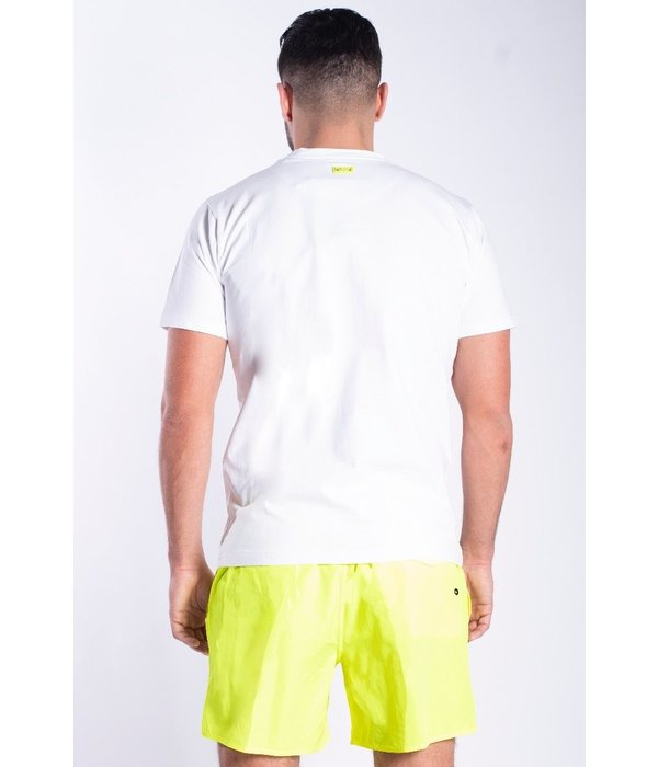 My Brand My Brand MB White Neon Yellow T-Shirt