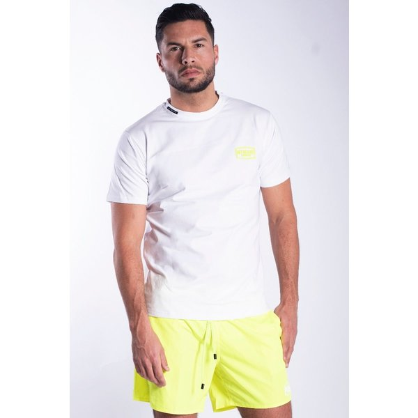 My Brand MB White Neon Yellow T-Shirt