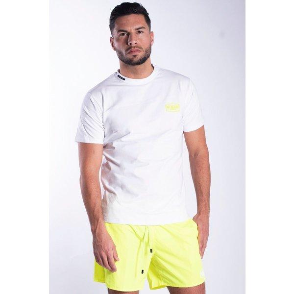 My Brand MB White Neon Yellow T-Shirt