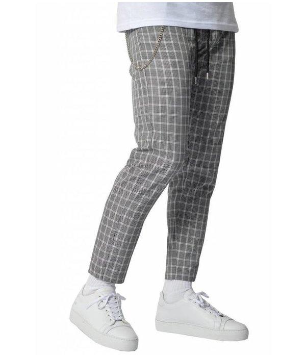 YCLO YCLO Elias Checkered Pants Black White