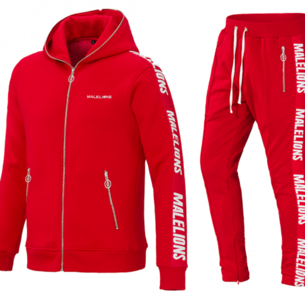 Malelions Tracksuit Bright Red