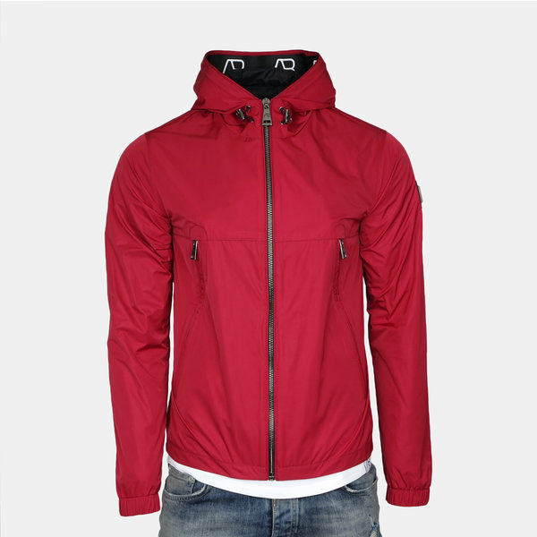 AB Hooded Summer Jacket Red