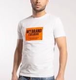 My Brand My Brand Square Logo Neon T-shirt White