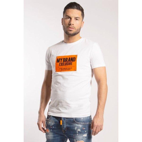 My Brand Square Logo Neon T-shirt White