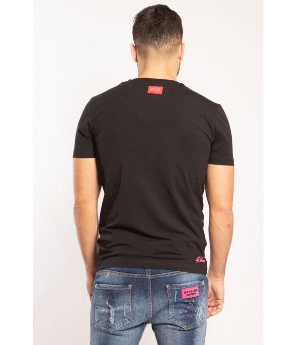 My Brand My Brand Square Logo Neon T-shirt Black