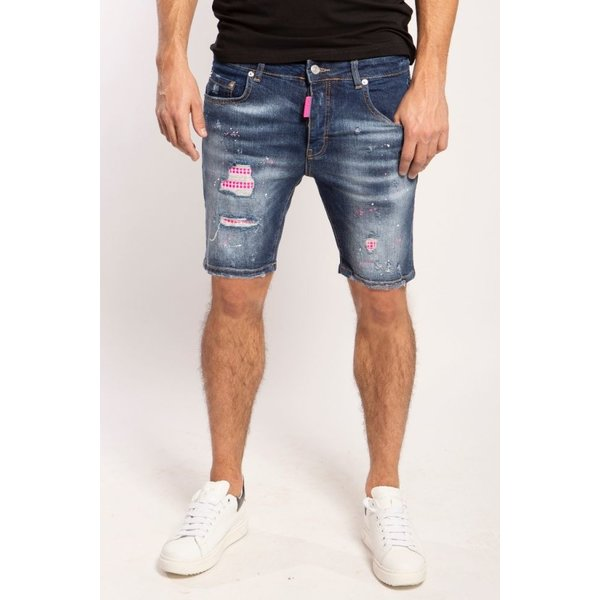 My Brand Washed 1D Short Jeans Denim pink