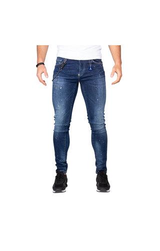 LEYON LEYON Yellow Spotted Jeans Blue 1674