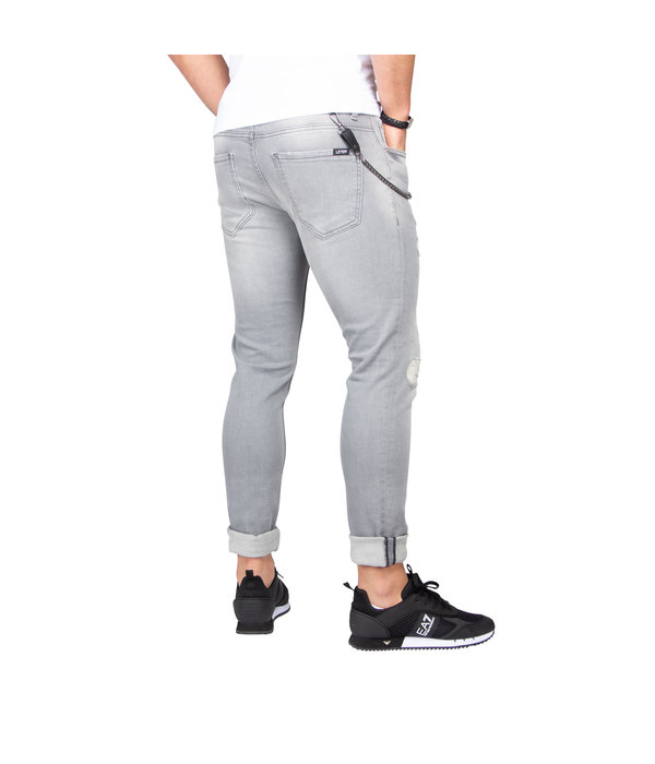 LEYON LEYON Destroyed Denim Grey 1673