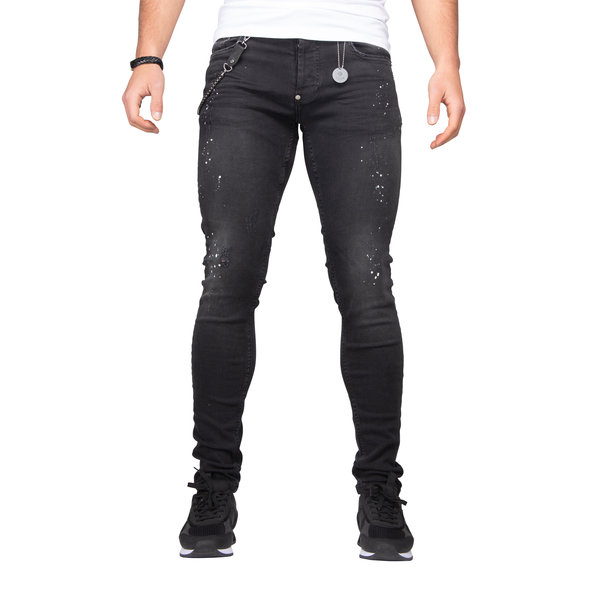 LEYON Spotted Denim Black 1675