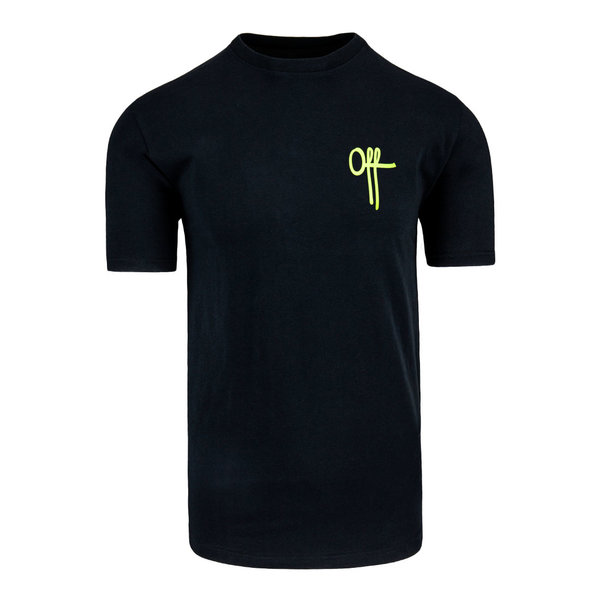 Off The Pitch Full Stop Tee SS Black/Neon
