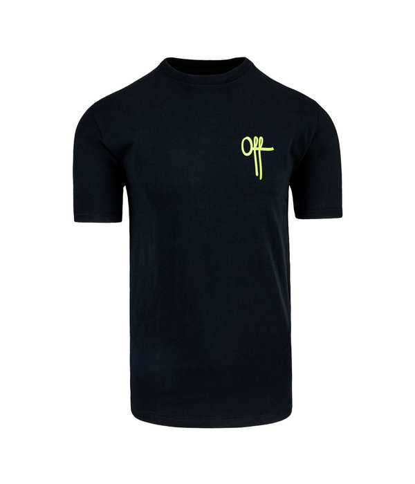 Off The Pitch Off The Pitch Full Stop Tee SS Black/Neon