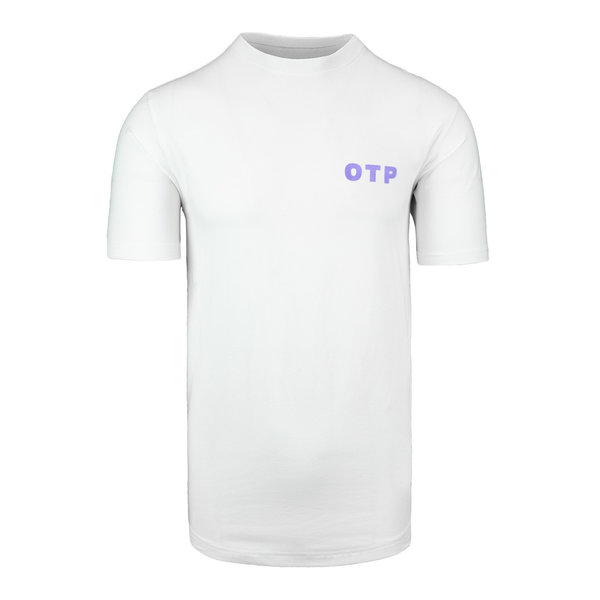 Off The Pitch Script Tee White