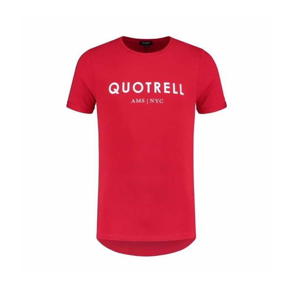 Quotrell Tee Red/White