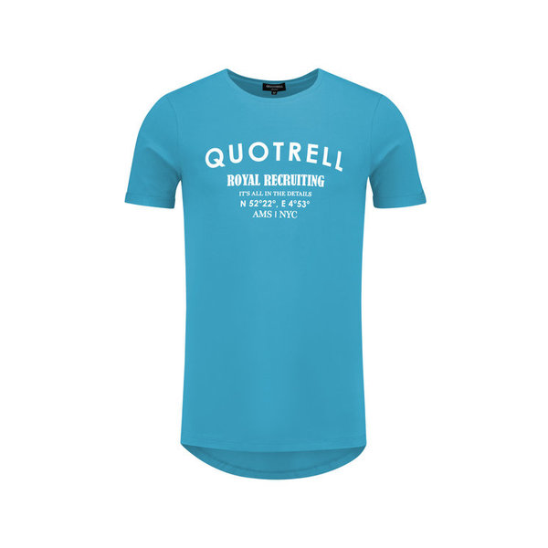Quotrell Royal Tee Azure/White