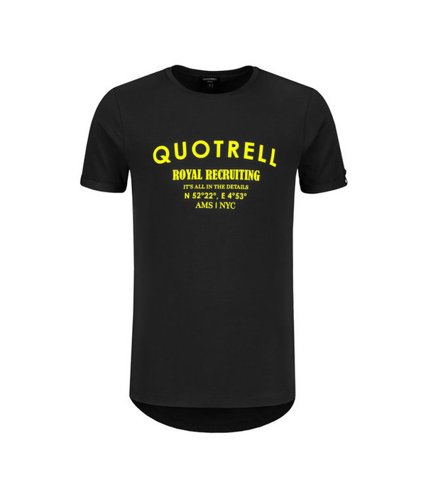 Quotrell Quotrell Royal Tee Black/Yellow