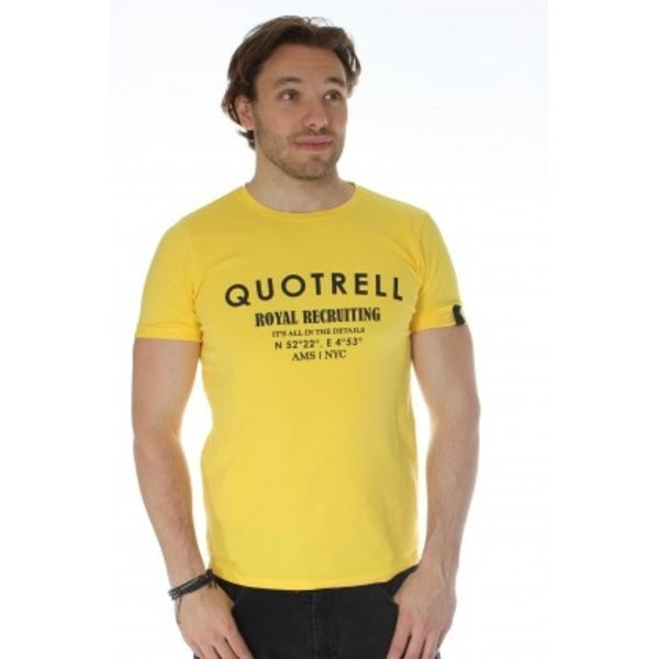 Quotrell Royal Tee Yellow/Black
