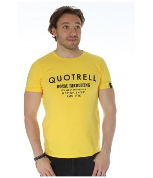 Quotrell Quotrell Royal Tee Yellow/Black