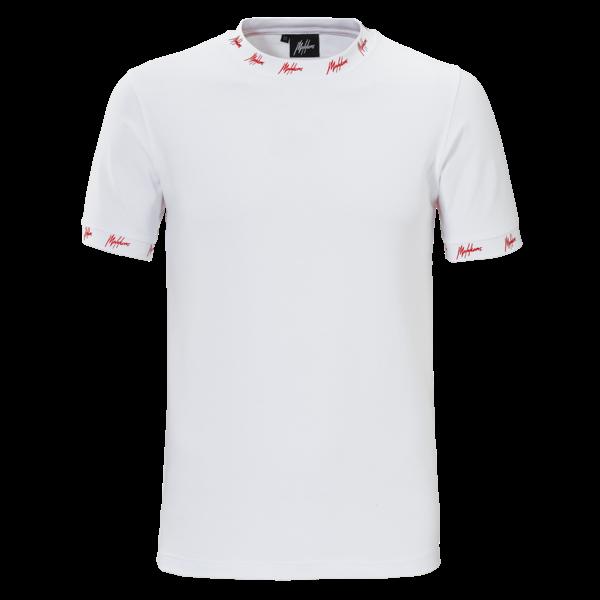 Malelions T-shirt Georginio White/Red