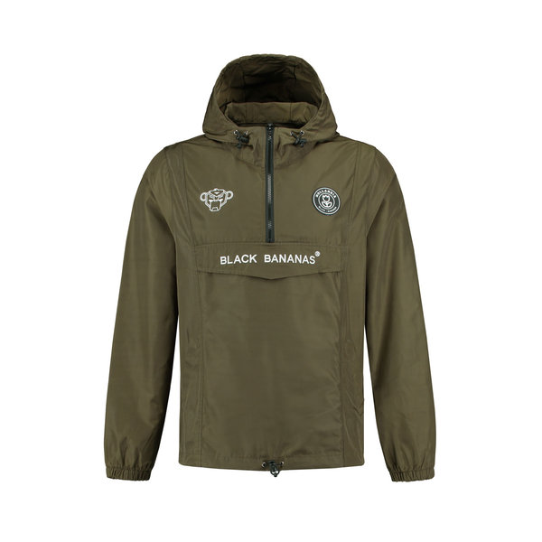 Black Bananas F.C. Anorak Windbreaker Moss Green