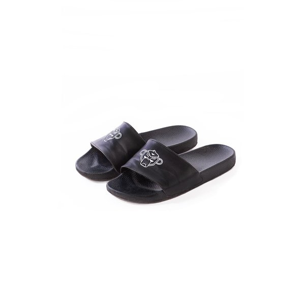 Black Bananas Luxury Slides Black
