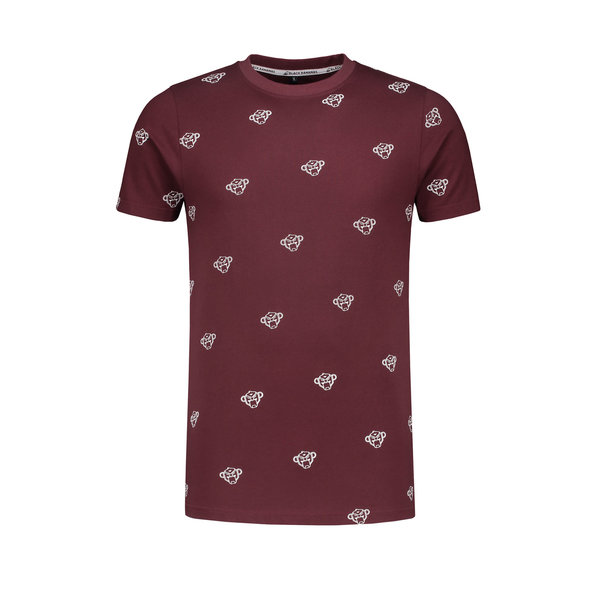Black Bananas All Over Tee Burgundy