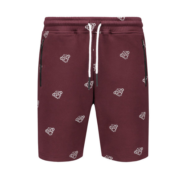 Black Bananas All Over Short Burgundy