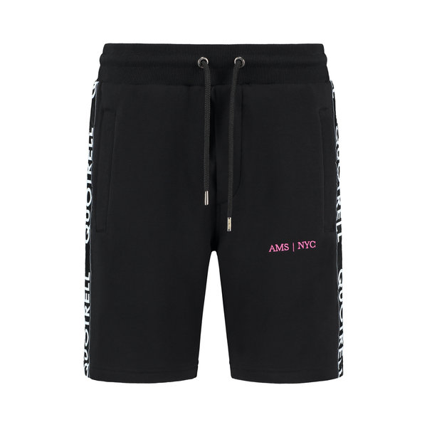 Quotrell Black/Fuchsia Short