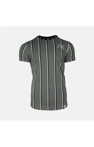 AB-Lifestyle AB London Striped Tee Kale Green