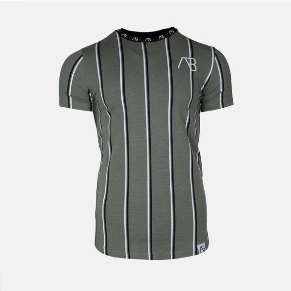 AB London Striped Tee Kale Green