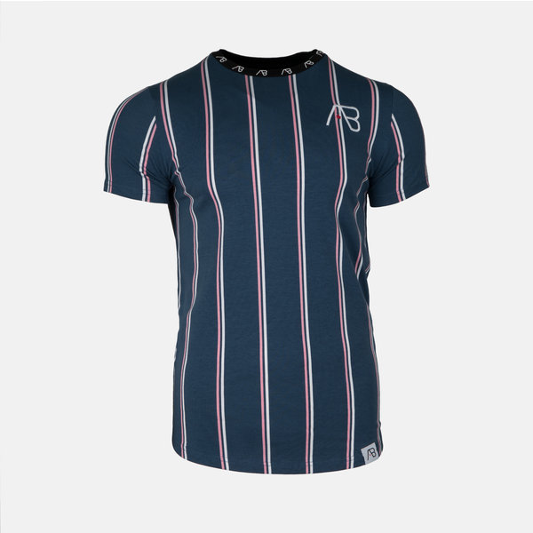 AB London Striped Tee Navy