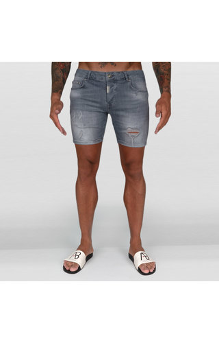 AB-Lifestyle AB Short Denim Jeans Grey