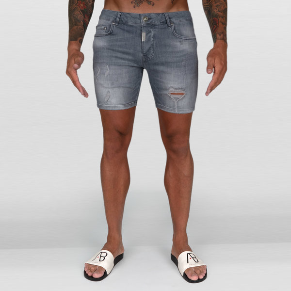 AB Short Denim Jeans Grey