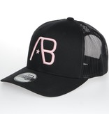 AB-Lifestyle AB RETRO Trucker Cap Pink on Black