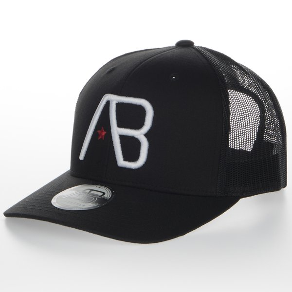 AB Retro Trucker White on Black