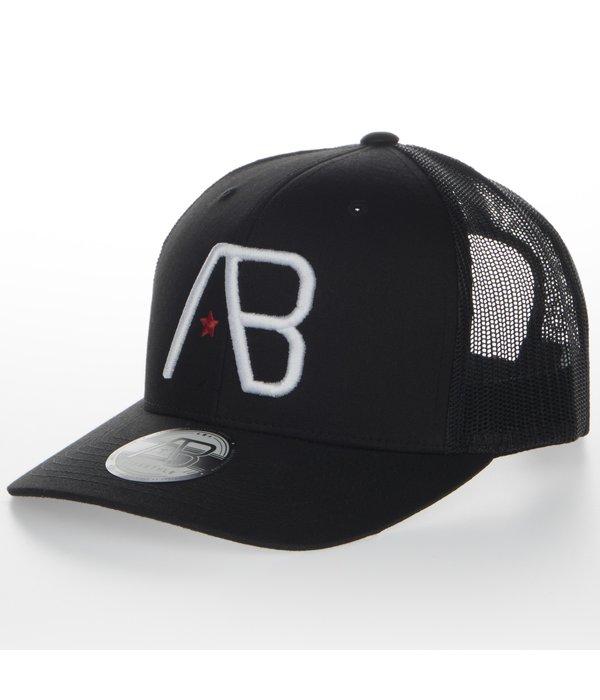 AB-Lifestyle AB Retro Trucker White on Black