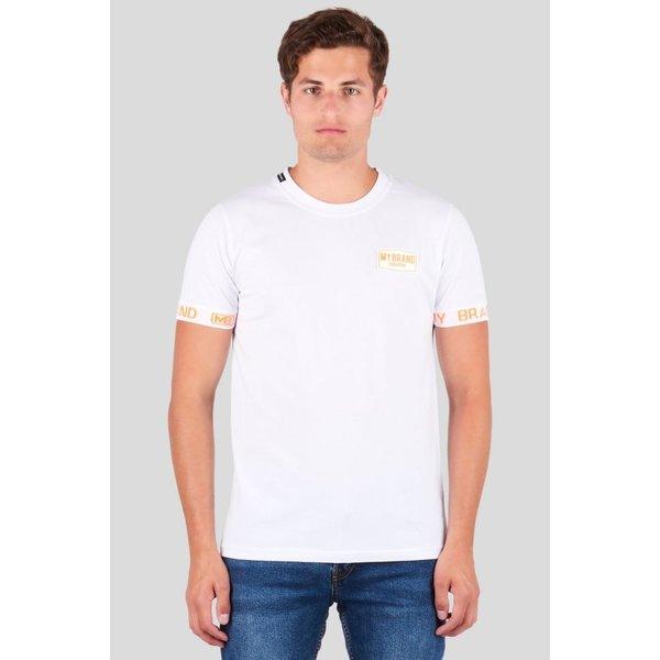 My Brand Tape Logo SLeeve Shirt Neon White