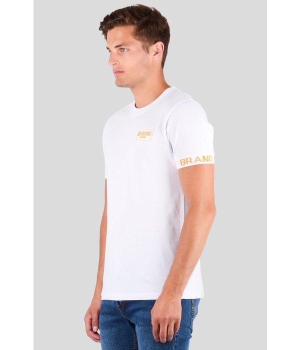 My Brand My Brand Tape Logo SLeeve Shirt Neon White