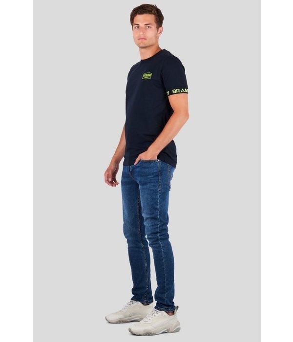My Brand My Brand Taped Sleeve T-shirt Neon Navy