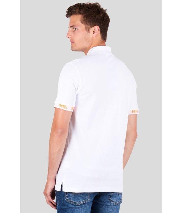 My Brand My Brand Tape Logo Sleeve Polo Neon White