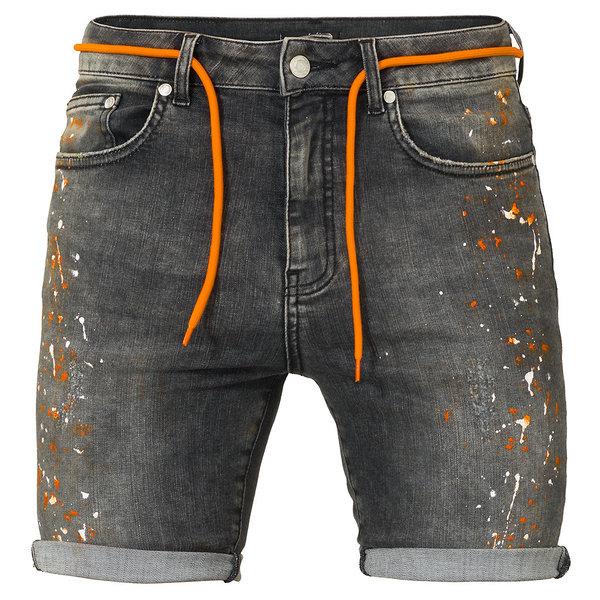 Malelions Denim Short Grey/Orange
