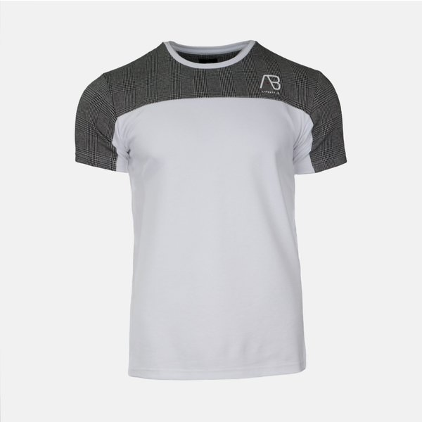 AB Checkers Tee White/Grey