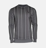 AB-Lifestyle AB Striped Sweater Grey