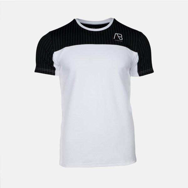 AB Pinstripe Tee White/Black