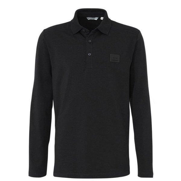 AM Polo Longsleeve Black MMKL00269