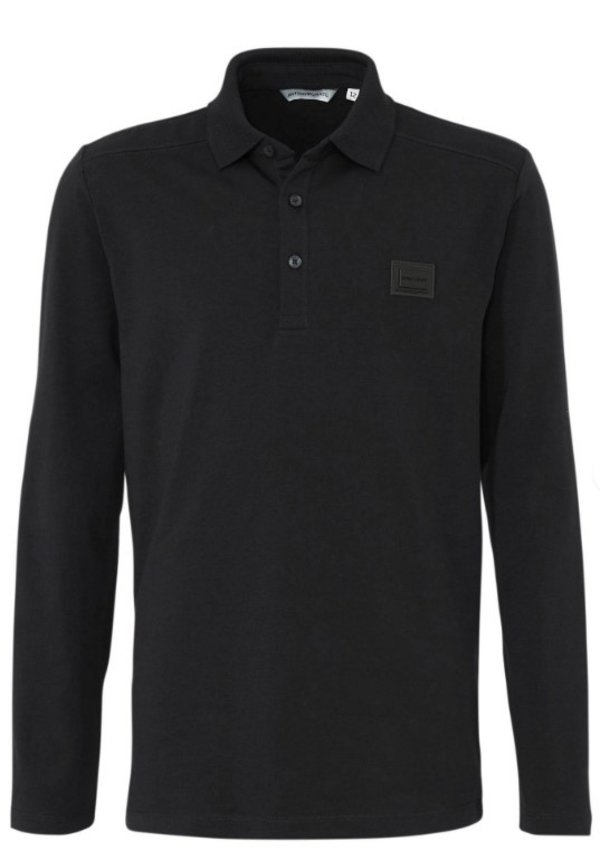 AM Polo Longsleeve Black MMKL00269