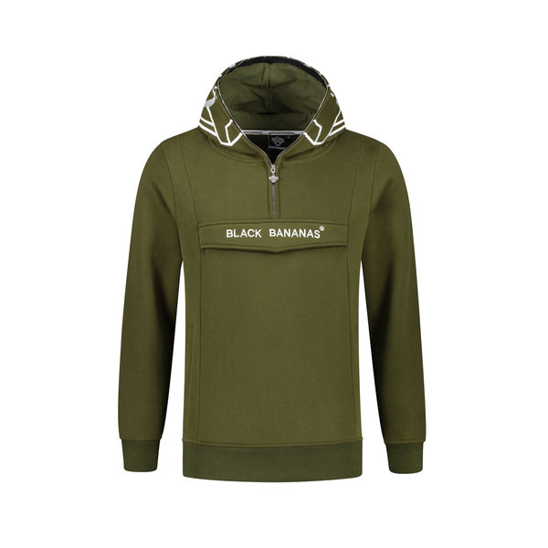 Black Bananas Incognito Hoody Green